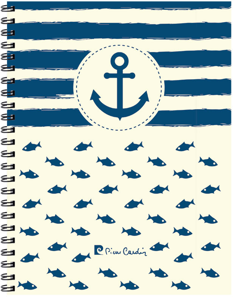 Pierre Cardin Тетрадь More 120 листов в клетку цвет голубой белый формат A4 папки канцелярские pierre cardin папка каталог 40 листов geometrie pink