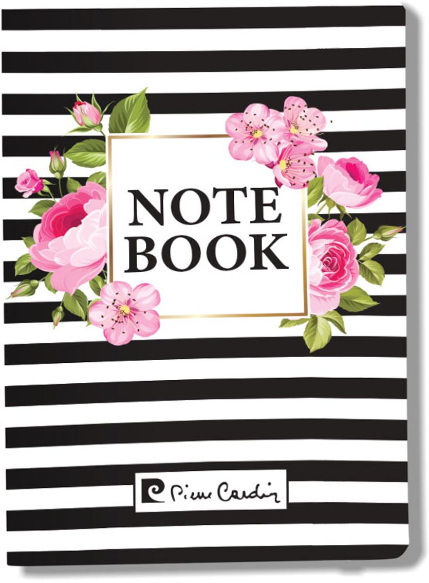 Pierre Cardin Блокнот Vein 80 листов в клетку цвет белый розовый черный формат A6 папки канцелярские pierre cardin папка каталог 40 листов geometrie pink