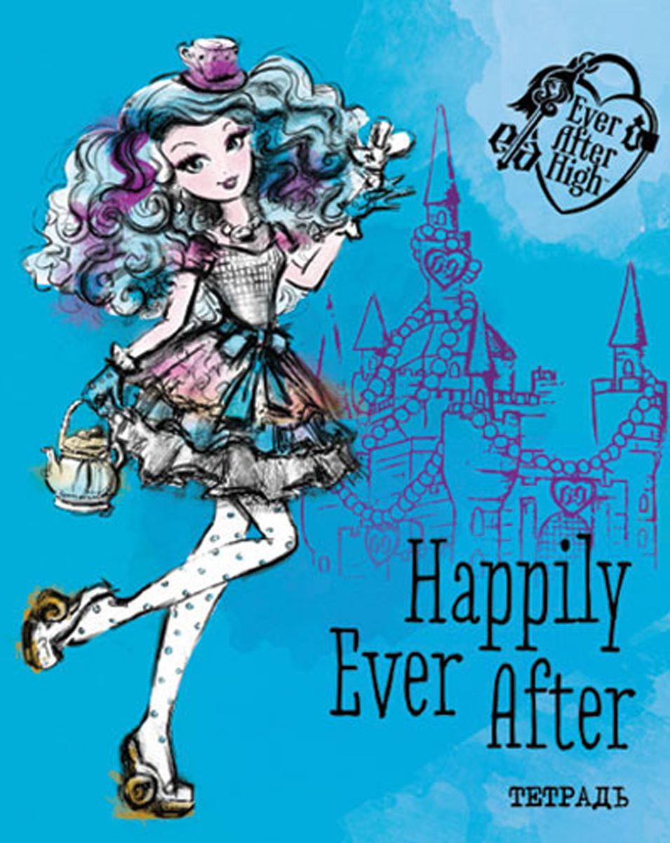 Mattel Тетрадь Ever After High 48 листов в клетку цвет голубой формат A5 mattel mattel кукла ever after high мишель мермейд