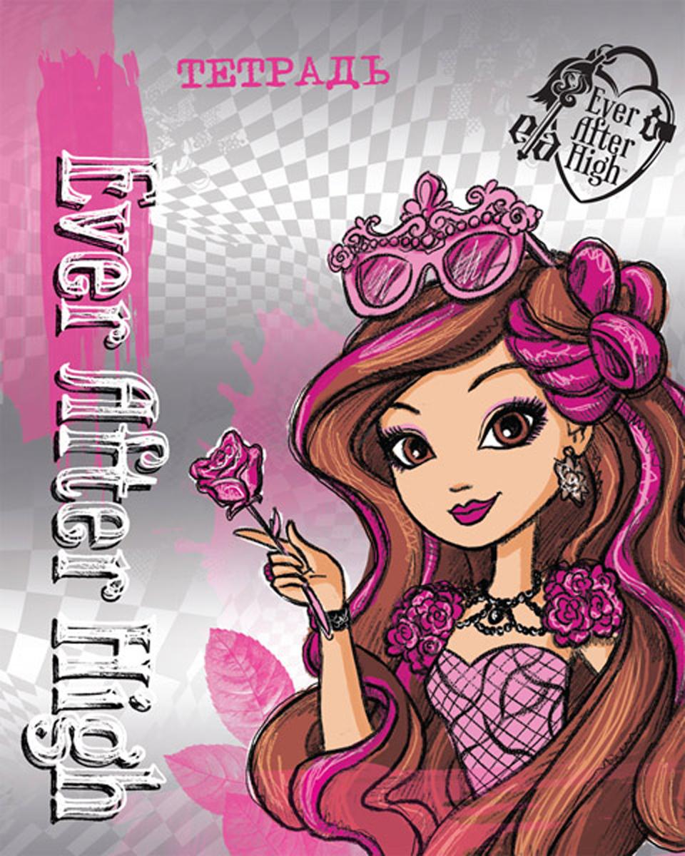 Mattel Тетрадь Ever After High 48 листов в клетку цвет фиолетовый формат A5 950634 mattel mattel кукла ever after high мишель мермейд