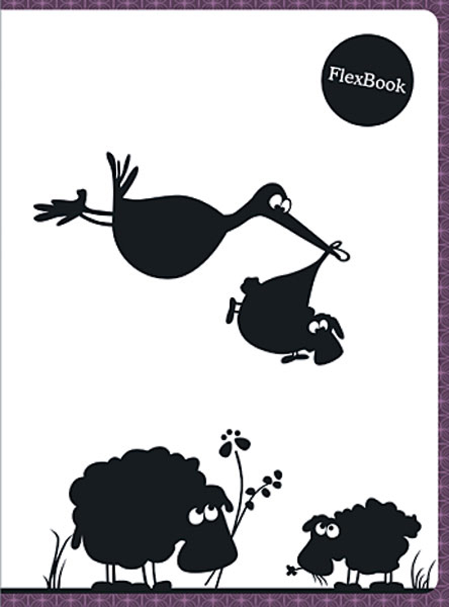 Expert Complete Тетрадь Animals 80 листов в клетку цвет белый черный бордовый формат A5