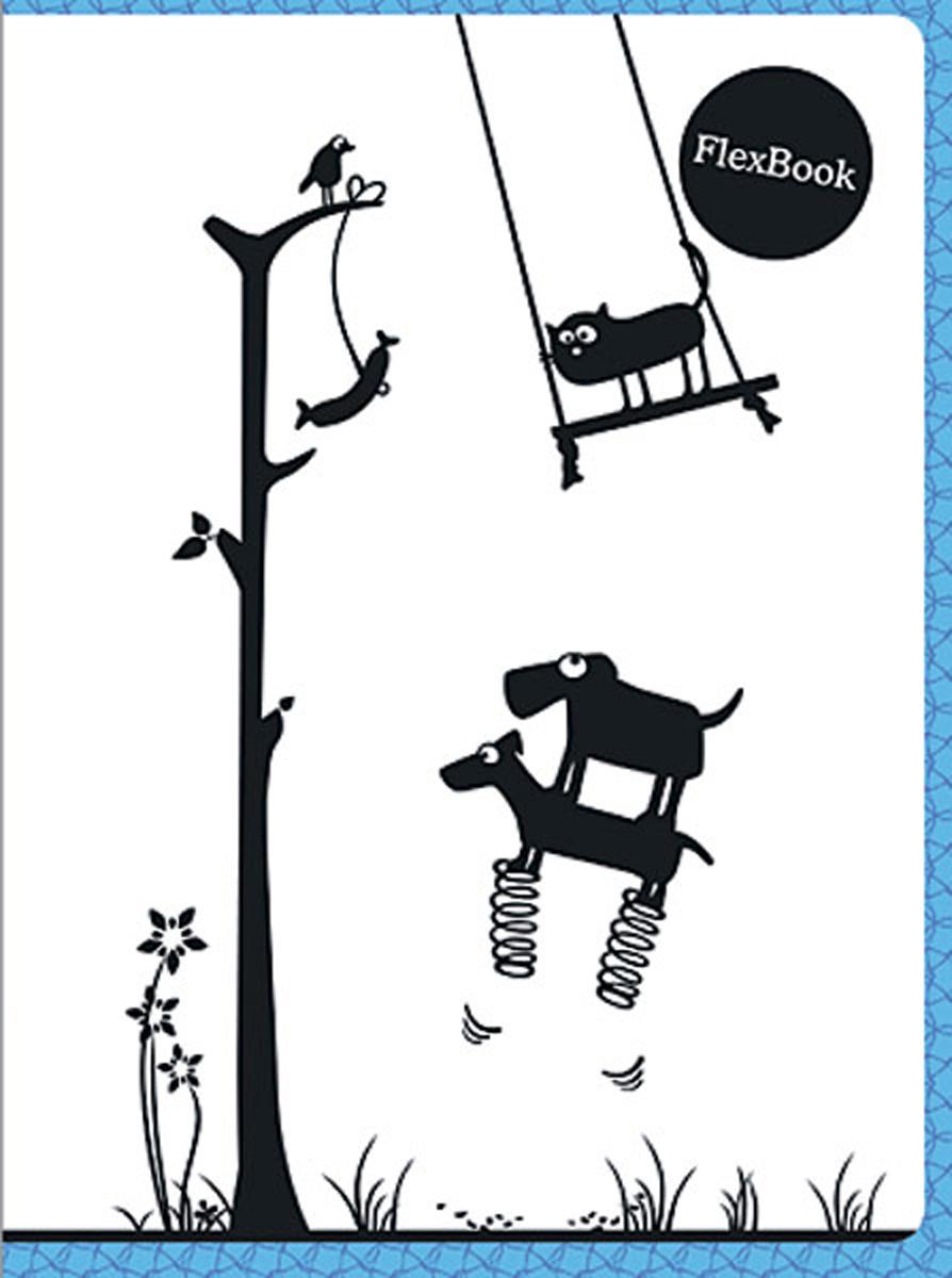 Expert Complete Тетрадь Animals 80 листов в клетку цвет белый черный голубой формат A595135Тетрадь Flex Book с дизайнами Animals выполнена по инновационной технологии переплета,основанная на японской технологии Seihon, позволяет разворачивать тетрадь на 360 градусов.Формат тетради А5, внутренний блок тетради 80 листов в клетку. Мелованная картоннаяобложка увеличивает срок службы тетради. Flex Book идеально подходит для левшей. Сгибается,скручивается и складывается не ломаясь.