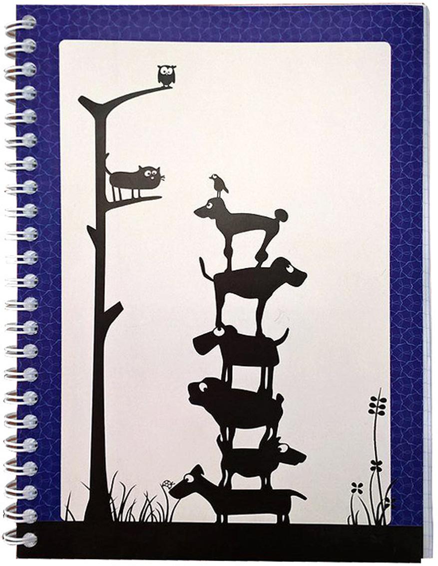 Expert CompleteБлокнот Animals 80 листов цвет белый черный синий формат A5 Expert Complete
