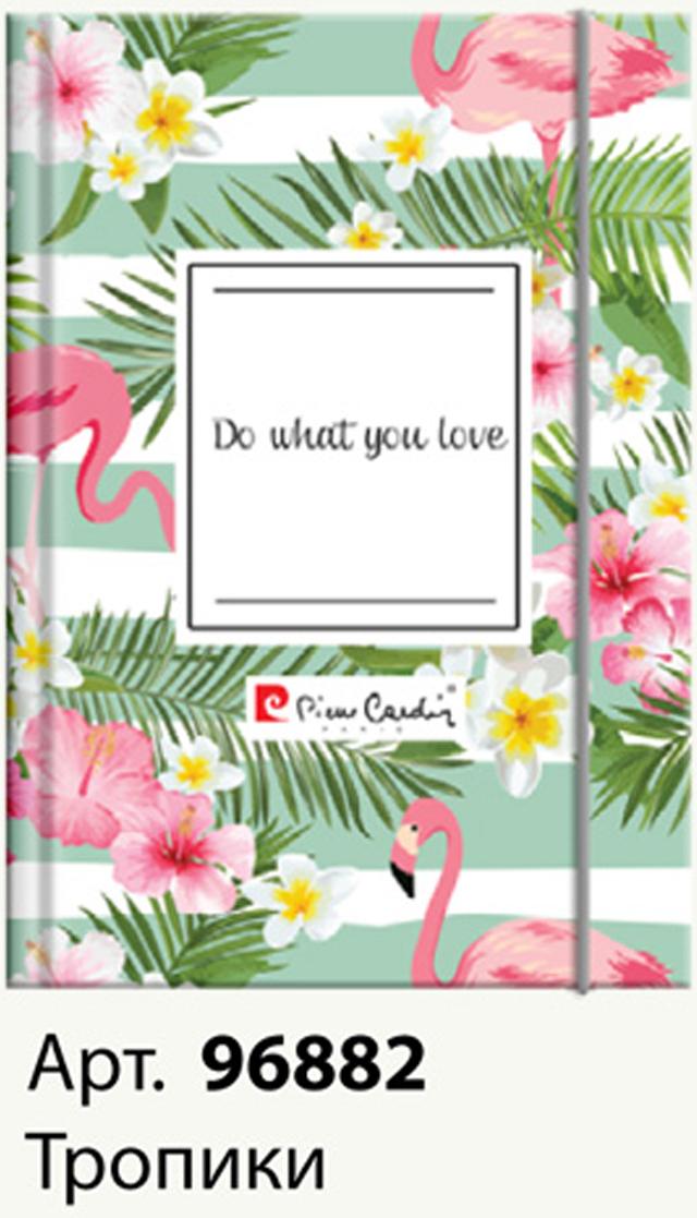 Pierre Cardin Еженедельник Tropic недатированный 80 листов на резинке цвет зеленый белый розовый формат A5 чулки pierre cardin чулки