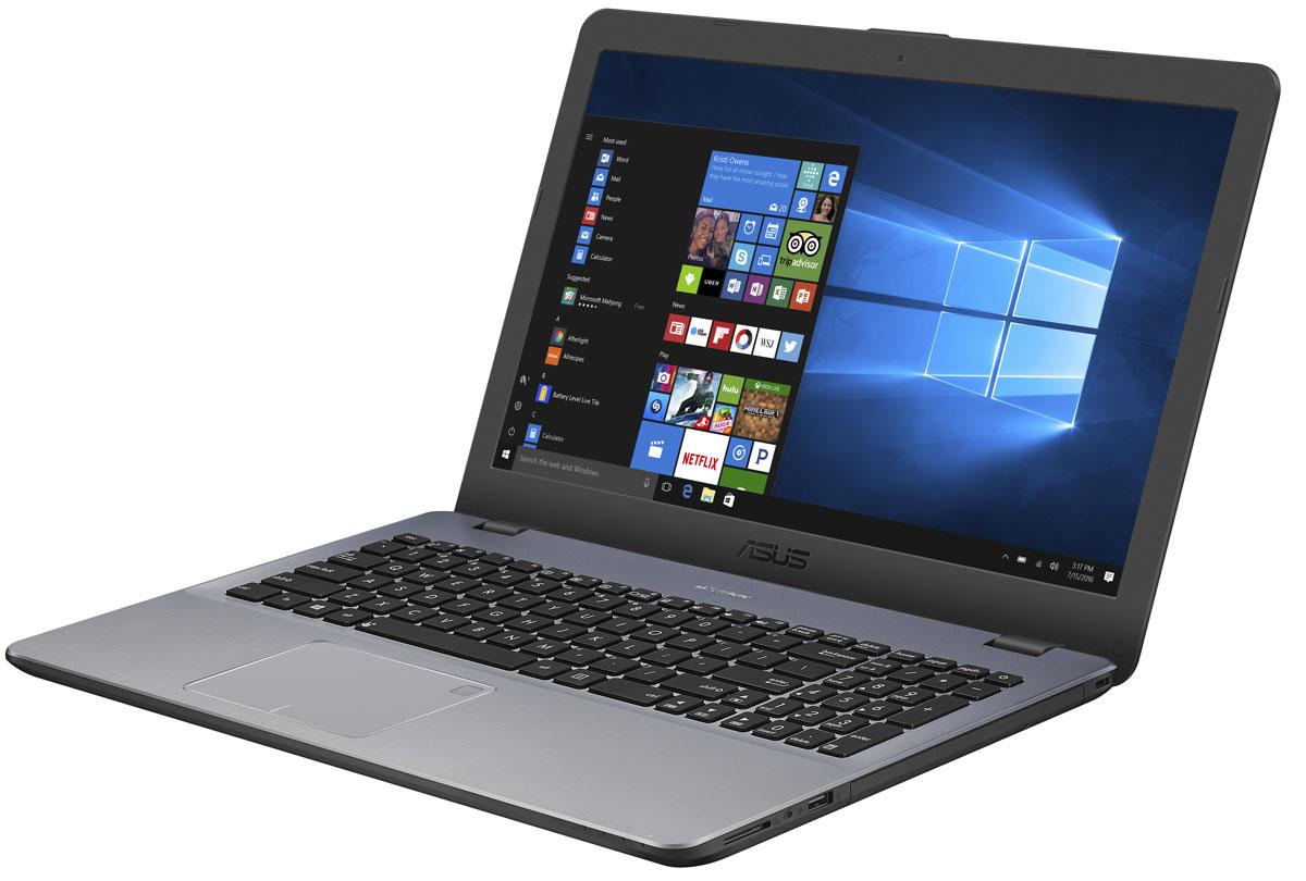 ASUS VivoBook 15 X542BP, Star Grey (X542BP-GQ033T)X542BP-GQ033TASUS VivoBook 15 X542BP - это современный ноутбук, объединяющий в себе красивый дизайн с современными технологиями.Работая под управлением операционной системы Windows 10, он предлагает пользователю всю мощь процессора AMD A9 в сочетании с оперативной памятью стандарта DDR4. Для хранения файлов у него имеется традиционный жесткий диск большой емкости.ASUS VivoBook 15 оснащен литий-полимерным аккумулятором, который поддерживает в три раза большееколичество циклов зарядки, чем стандартные литий-ионные аккумуляторы. Благодаря технологии быстройзарядки от ASUS аккумулятор ноутбука заряжается до 60% всего за 49 минут.Если ноутбук остается подключенным к зарядке, когда аккумулятор уже полностью заряжен, это можетпривести к ухудшению рабочих характеристик аккумулятора и, соответственно, к сокращению срока его службы.Такой режим работы может также стать причиной набухания аккумулятора из-за внутреннего накоплениягазов, вызванного окислением, потенциального деформирования или повреждения ноутбука. Технология ASUSBattery Health Charging позволяет установить предельный уровень заряда 60%, 80% или 100%, чтобы продлитьсрок службы батареи и уменьшить вероятность ее набухания.Ноутбук оборудован компактным портом USB Type-C, имеющим специальную конструкцию, которая позволяетподключать USB-кабель к ноутбуку любой стороной. Порт USB 3.1 работает на скорости до 5 Гбит/с, то есть в 10раз быстрее, чем USB 2.0. Это означает быструю передачу больших объемов информации, напримервидеофайлов. ASUS VivoBook 15 также обладает видеовыходами HDMI и VGA, а также кардридеромSD/SDHC/SDXC для совместимости с широким спектром дисплеев, проекторов и периферийных устройств.Разработанная специалистами ASUS технология Splendid позволяет быстро настраивать параметры дисплея всоответствии с текущими задачами и условиями, чтобы получить максимально качественное изображение. Онапредлагает выбрать один из нескольких предустановленных режимов, кажд