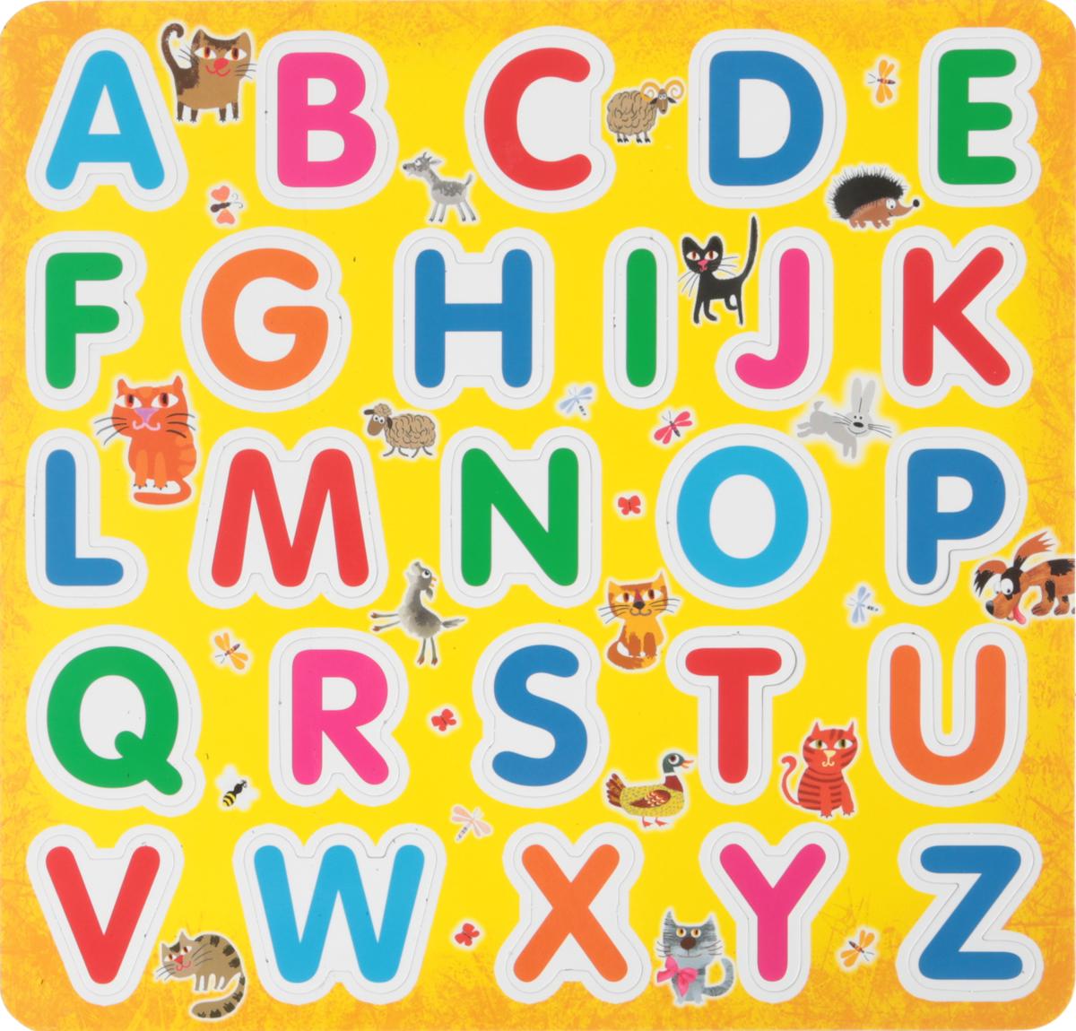 Английский алфавит на магнитах (Еврослот + методичка) woody игрушка набор буквы на магнитах о0211