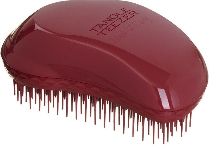 Tangle Teezer РасческаThick & Curly Maroon Mood2058Расчёска Tangle Teezer The Original Thick & Curly вобрала в себя все достоинства расчёски Tangle Teezer Original: эргономичный дизайн и гибкие зубчики, которые легко расчёсывают влажные и сухие волосы, не повреждая их. Уникальная особенность данной модели: удлинённые (на 4 мм длиннее, чем у других расчёсок Tangle Teezer) и более плотные зубчики, изготовленные по специальной технологии firm-flex, без труда распутывают даже самые непослушные и густые волосы.