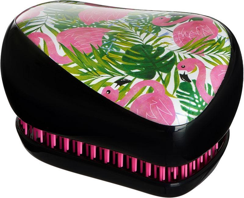 Tangle Teezer Расческа для волос Compact Styler Skinny Dip Palm Flami5060173371401Расчёска Tangle Teezer Compact Styler Skinny Green украшена принтом в виде тропических розовых фламинго. Благодаря компактной форме эта расчёска поместится в любую сумочку, а плотно прилегающая крышка защитит расчёску от пыли и повреждений. Эргономичная форма позволяет легко расчёсывать как сухие, так и влажные волосы. Благодаря уникальному строению зубчиков, расчёска мягко скользит по волосам, не повреждая и не травмируя их. После использования расчёски волосы приобретают здоровый вид и блеск, становясь гладкими и шелковистыми.