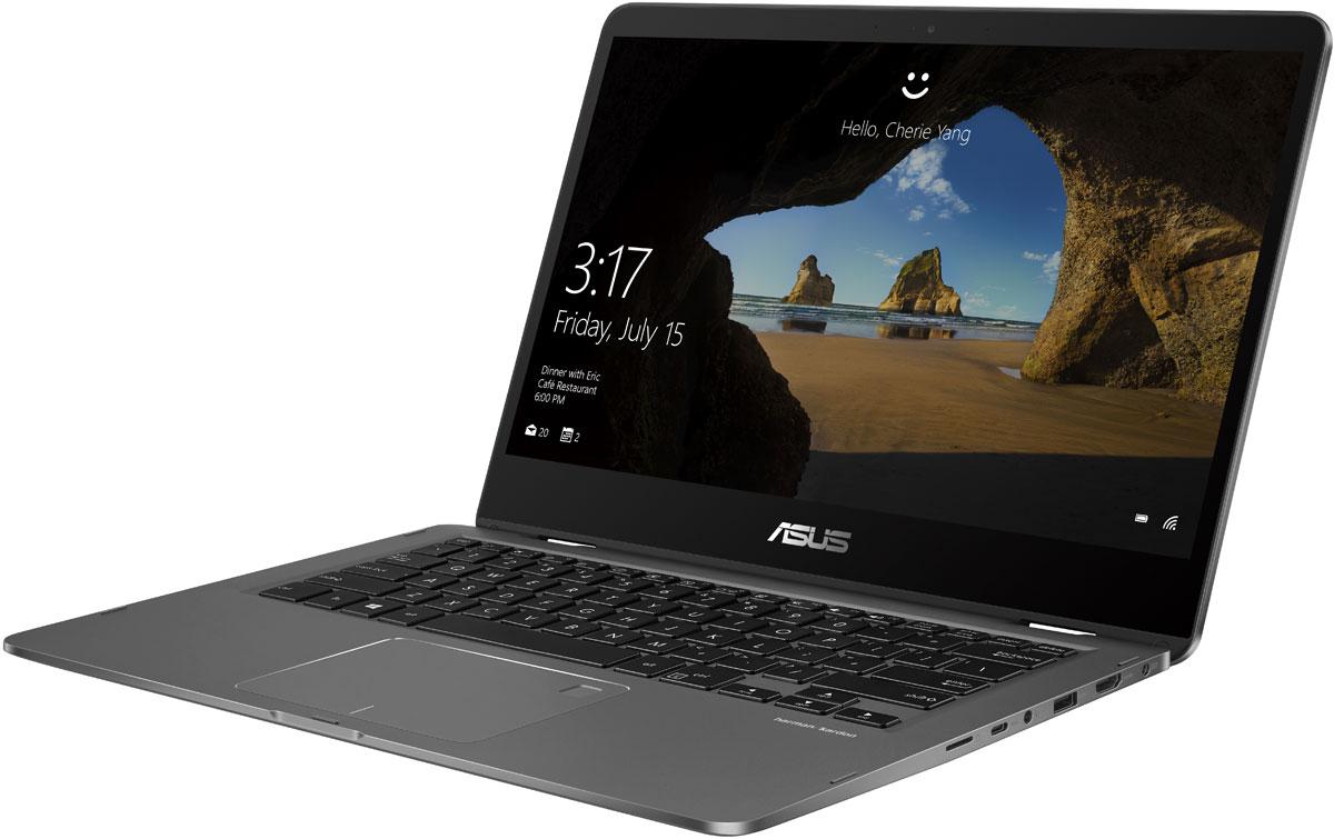 ASUS ZenBook Flip 14 UX461UN (UX461UN-E1062T)UX461UN-E1062TASUS ZenBook Flip 14 UX461UN – это шедевр инженерного искусства, выполненный в изящном и прочномалюминиевом корпусе. Устройство доступно в двух изысканных цветовых вариантах с различающейсятекстурой поверхности.Ультрабук оборудован сенсорным экраном с инновационным механизмом крепления, который позволяетраскрывать ультрабук на 360 градусов и надежно удерживает дисплей точно в заданном положении. Чтобыгарантировать надежность и долговечность экранного шарнира, тестовые образцы устройства подвергаются20 тысячам циклов открытия/закрытия крышки.ZenBook Flip UX461UN оснащается экраном формата Full-HD с разрешением 1920х1080 пикселей, большимиуглами обзора (178°) и широким цветовым охватом (100% sRGB). Благодаря высокой пиксельной плотностиизображение отличается поразительной четкостью и детализацией.Благодаря сверхтонкой рамке NanoEdge относительная площадь дисплея составляет целых 79%. Результат –невероятно большое экранное пространство для столь компактного мобильного устройства.ASUS ZenBook Flip 14 UX461UN обладает высокой производительностью, которая обеспечивается современнымпроцессором Intel (вплоть до моделей серии Core i7), большим объемом оперативной памяти (8 ГБ), дискретнойвидеокартой и скоростным твердотельным накопителем емкостью до 512 ГБ. Этот ультрабук прекрасноподходит для продуктивной работы в многозадачном режиме.Ультрабук оснащается дискретной видеокартой NVIDIA MX150, которая воплощает в себе новуюмикроархитектуру, обеспечивающую существенный прирост производительности по сравнению с предыдущимпоколением графических процессоров NVIDIA. Она будет весьма полезной в приложениях, связанных собработкой графики, например в 3D-редакторах и при воспроизведении видео в форматах высокой четкости, атакже позволит запускать нетребовательные компьютерные игры.Беспроводной модуль Wi-Fi, встроенный в ASUS ZenBook Flip 14 UX461UN, соответствует новейшемувысокоскоростному стандарту 802.11ac и обеспечивает про