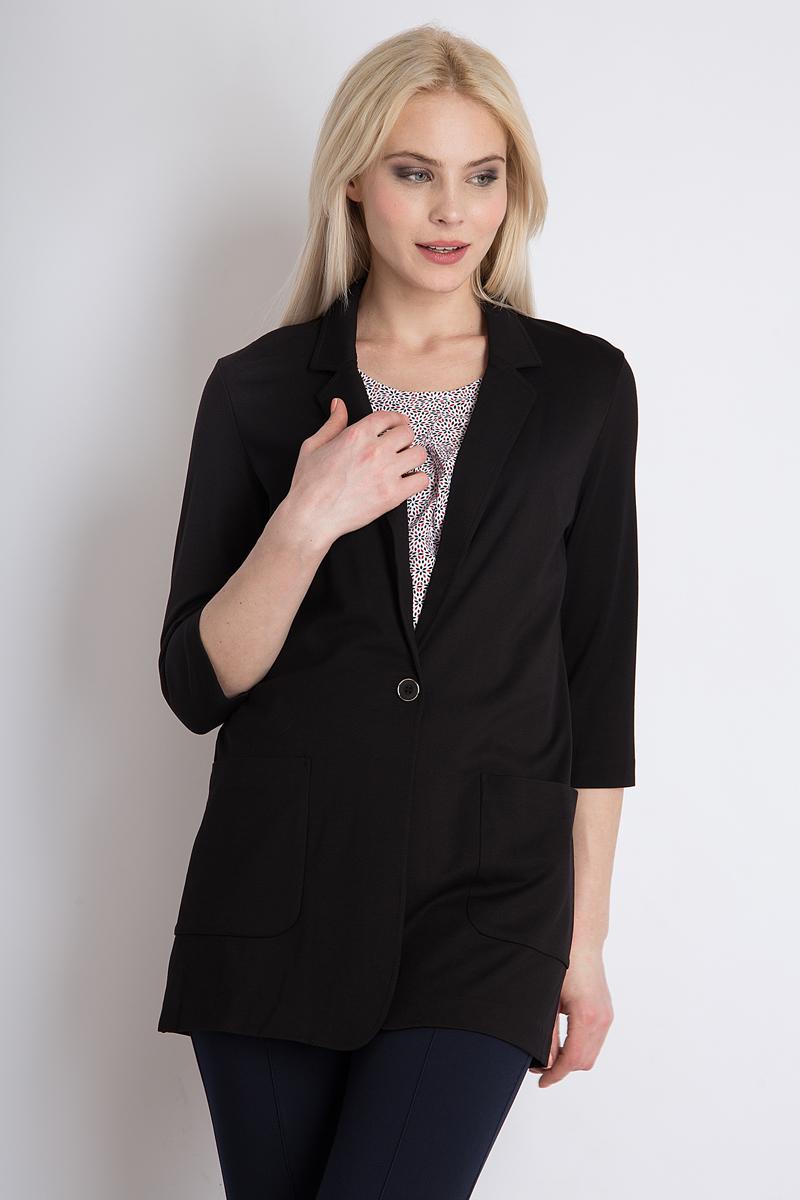 Жакет женский Finn Flare, цвет: черный. B18-11046_200. Размер XL (50) женский гардероб