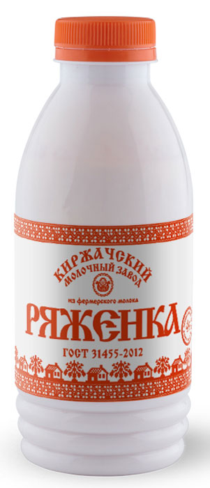 Киржачский МЗ Ряженка, 4%, 500 г хлеб