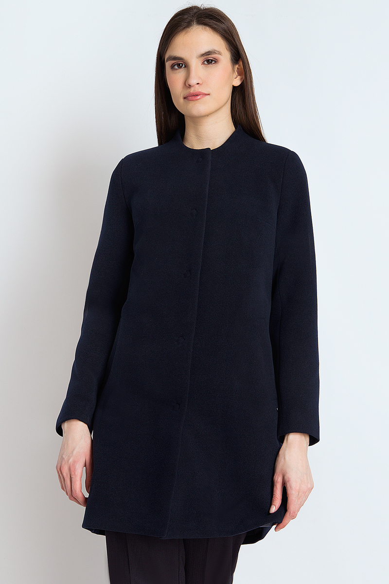 Пальто женское Finn Flare, цвет: темно-синий. B18-12000_101. Размер M (46) cпальный мешок onlitop prestige 515982