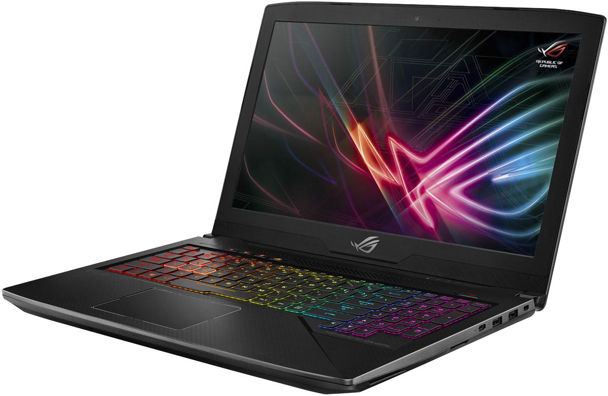ASUS ROG GL503VD SCAR (GL503VD-ED364T)GL503VD-ED364T SCARASUS ROG GL503VD - это новейший процессор Intel Core и геймерская видеокарта NVIDIA в компактном и легкомкорпусе. С этим мобильным компьютером вы сможете играть в любимые игры где угодно.Четырехъядерный процессор Intel Core i7 7-го поколения и графическая карта NVIDIA GeForce GTX 1050обеспечивают производительность, столь же мощную, как и игровое мастерство.ROG GL503VD имеет блестящую широкоэкранную панель, которая на 50% ярче конкурирующих моделей, ипредлагает 100% цветовой диапазон sRGB - так что она идеально подходит для всех жанров игр. Он такжеоснащен широкоформатной панельной технологией, позволяющей четко видеть под любым углом до 178градусов.Ноутбук также поставляется с ROG GameVisual, простым в использовании инструментом, который содержитшесть пресетов, которые применяют ваши предпочтения для различных жанров игры, повышая резкость ицветопередачу.ASUS AURA - это комбинация программного обеспечения для подсветки и управления RGB, которое позволяетвам настроить свой игровой стиль. Подсветка разделяется между четырьмя зонами, которые могут бытьнастроены независимо или синхронизированы гармонично. Доступны статические, и цветовые режимы.ASUS ROG GL503VDобеспечивает четкое и четкое звучание с помощью встроенных динамиков, чтообеспечивает мощный звук даже без наушников.Встроенная технология интеллектуального усилителя обеспечивает громкость звука в игре - до 200% болеевысокого уровня - и минимизирует искажения для обеспечения бесперебойной работы. Система автоматическиконтролирует и уменьшает интенсивность вывода, чтобы предотвратить потенциальный ущерб от перегреваили перегрузки.Ноутбук имеет интеллектуальный дизайн, в котором используются несколько тепловых труб и двухвентиляторов, чтобы максимизировать производительность процессора и графического процессора. Этопозволяет запускать CPU и GPU на полной скорости без теплового дросселирования, а это означает, что выбудете наслаждаться полной стабильностью во