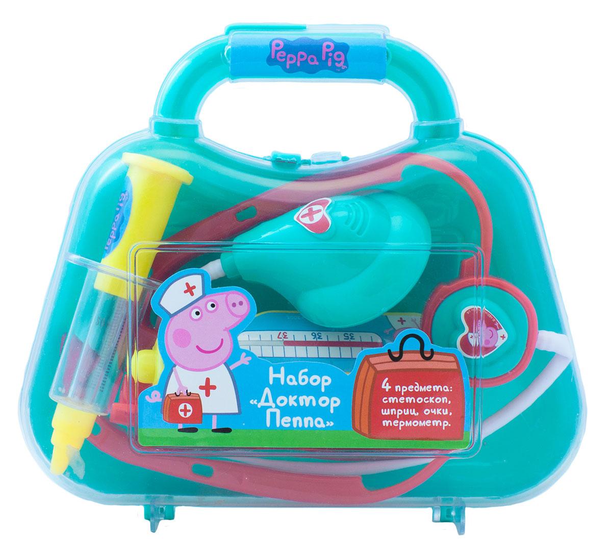 Peppa Pig Игровой набор Доктор Пеппа 4 предмета peppa pig игровой набор пеппа на каникулах 30627