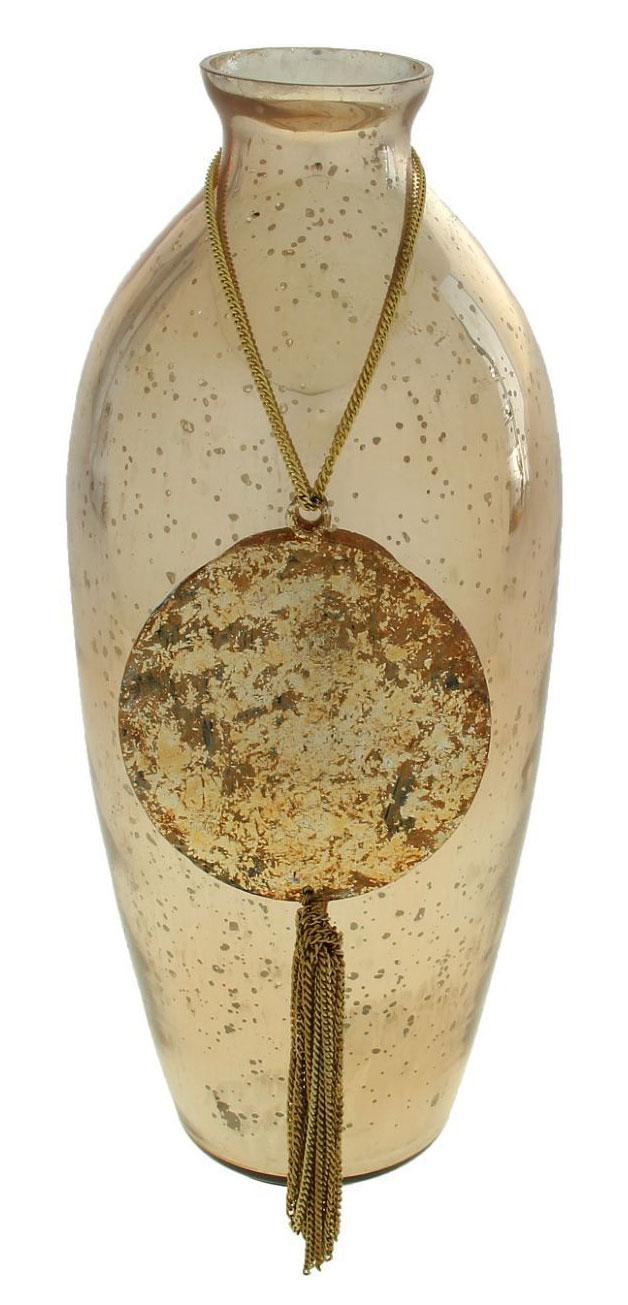 Ваза Амулет добра, цвет: желтый, 31 см ваза русские подарки винтаж высота 31 см 123710