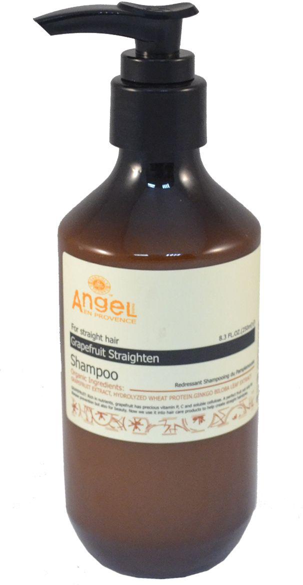 Angel Provence Шампунь выпрямляющий Грейпфрут, 250 млPL-08-7Шампунь содержит экстракт грейпфрута, гидролизованные протеины пшеницы и экстракт гинго, обогащен ценным природным витамином Р, богат витамином С и растворимыми волокнами. Восстанавливает волосы, их естественный PH. Делает волосы гладкими и прямыми, даря им естественный блеск.