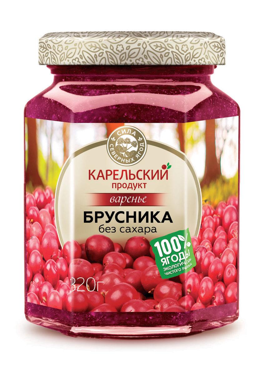 Карельский продукт Варенье из брусники, 320 г богородская трапеза варенье клюквенное 420 г
