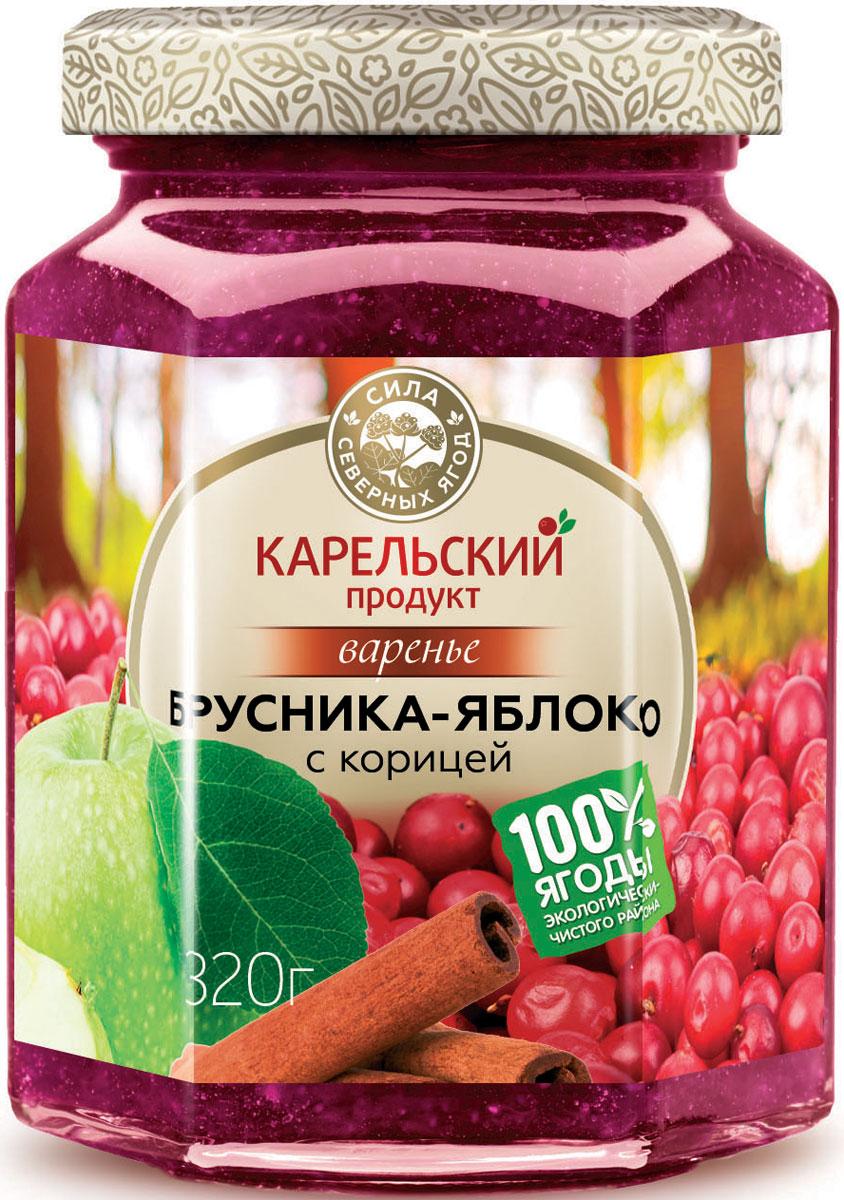 Карельский продукт Варенье из брусники и яблока с корицей, 320 гУТ000000749Карельский продукт Варенье из брусники и яблока с корицей, 320 г