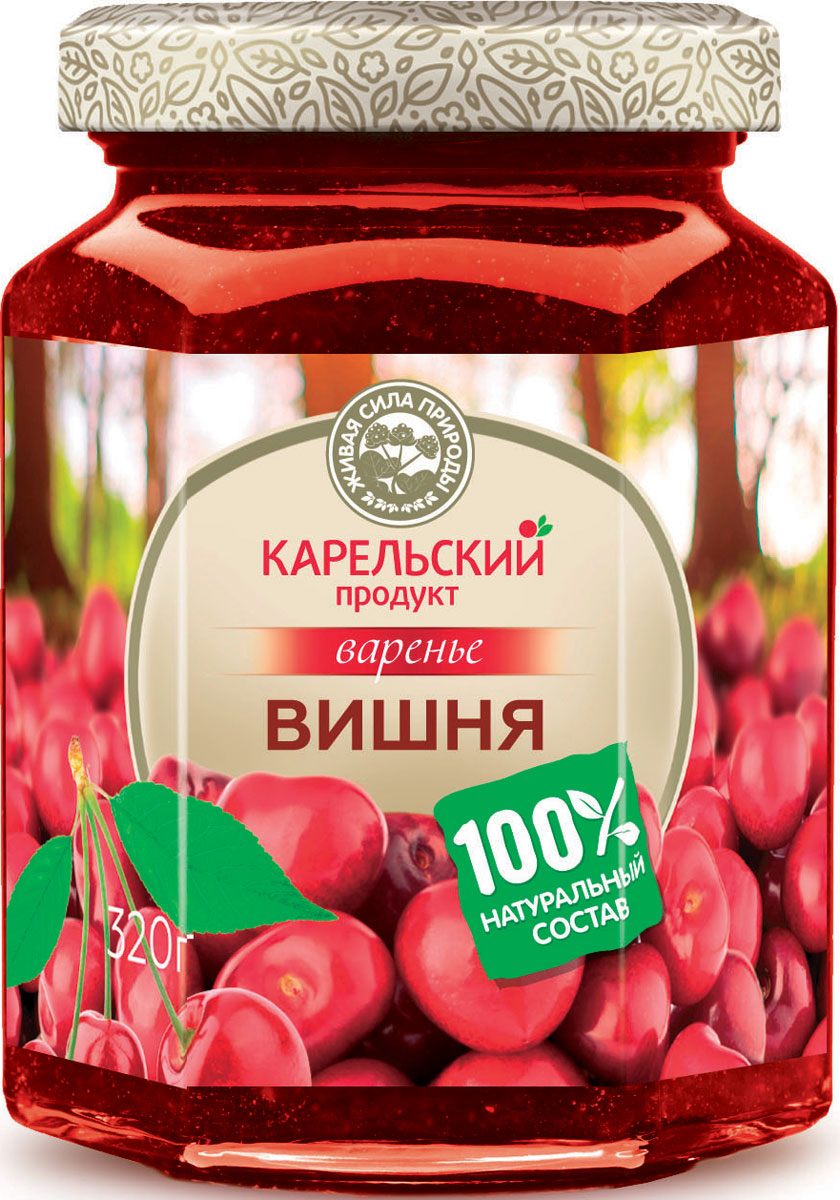 Карельский продукт Варенье из вишни, 320 г arma варенье из белой черешни 300 г