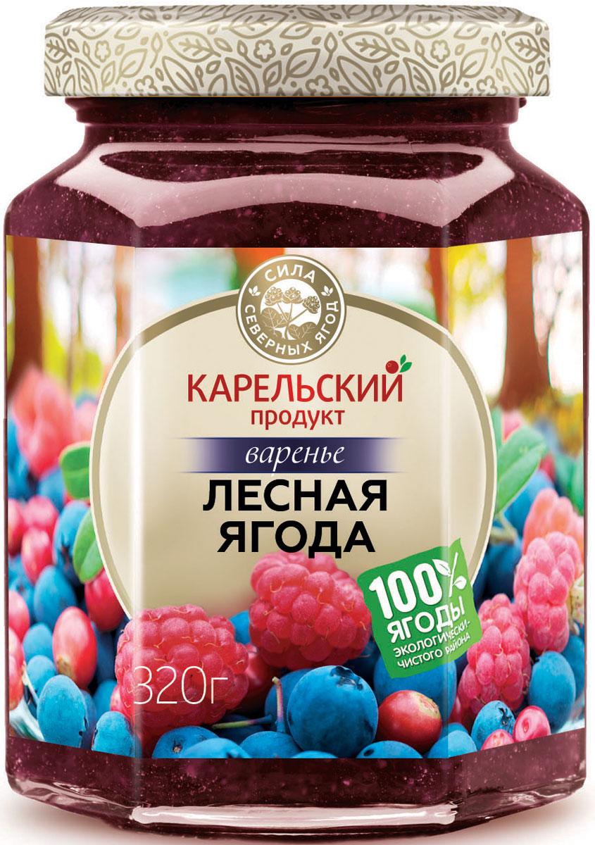 Карельский продукт Варенье из лесных ягод, 320 г arma варенье из белой черешни 300 г