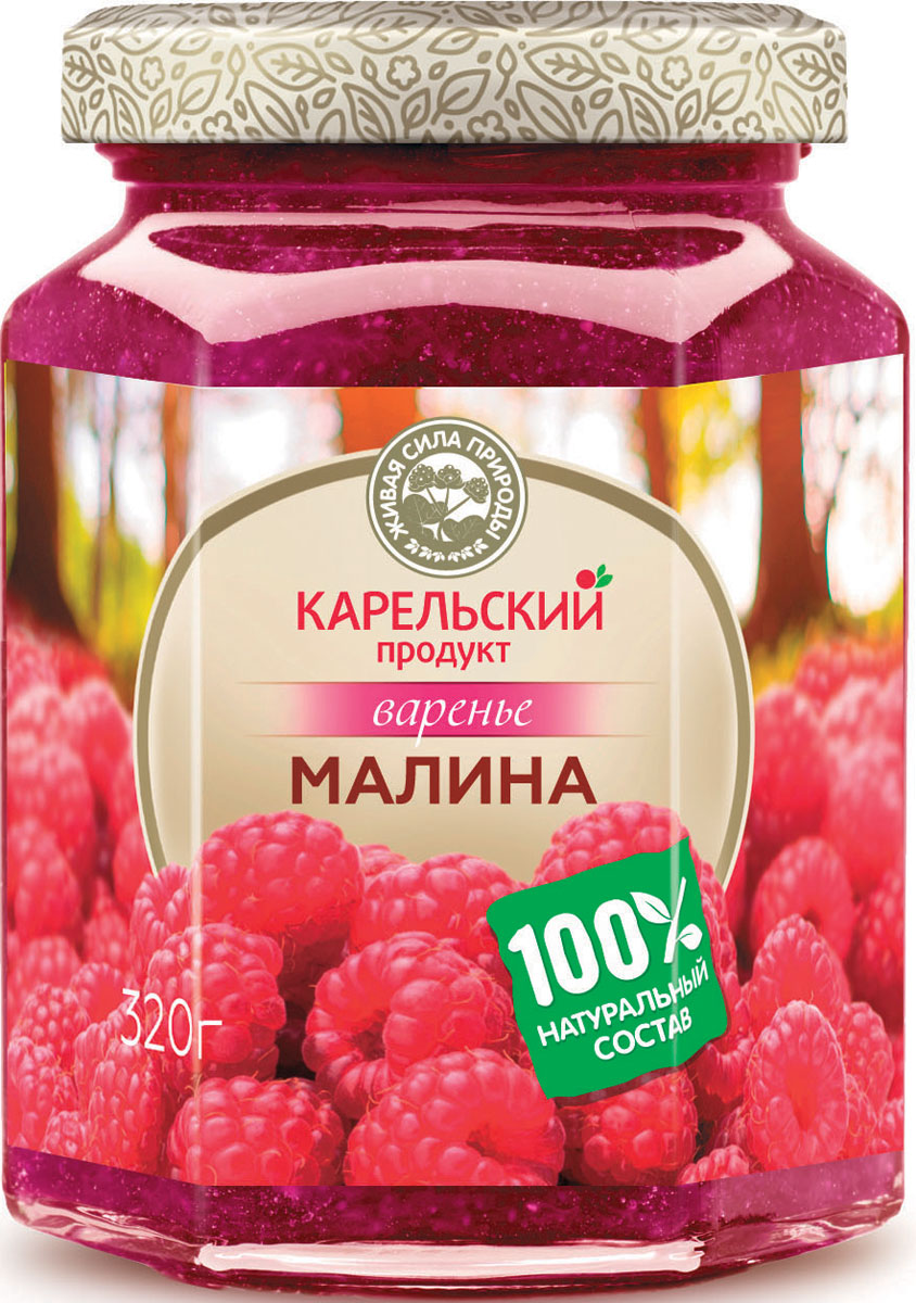 Карельский продукт Варенье из малины, 320 г arma варенье из белой черешни 300 г