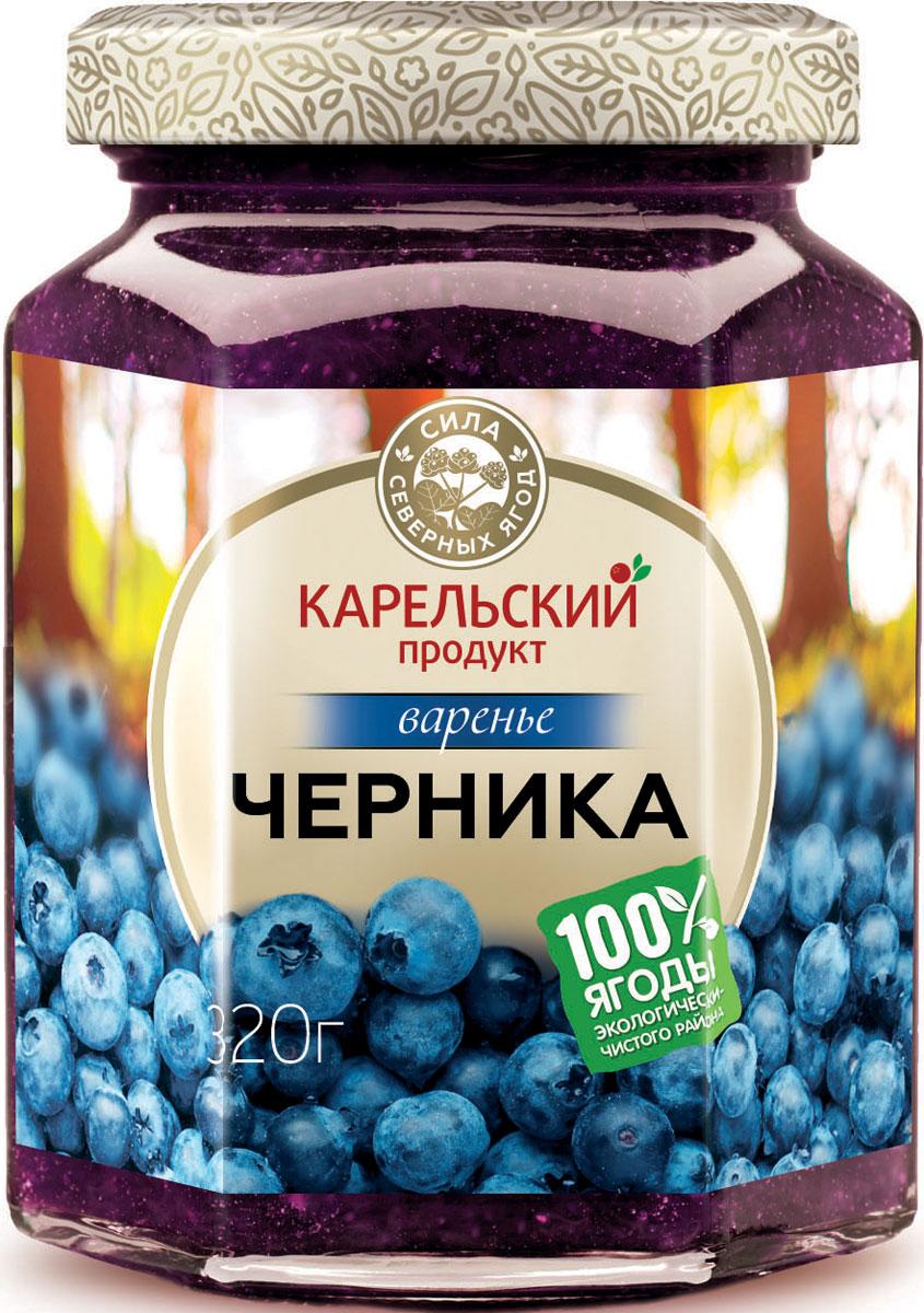 Карельский продукт Варенье из черники, 320 г arma варенье из инжира 300 г