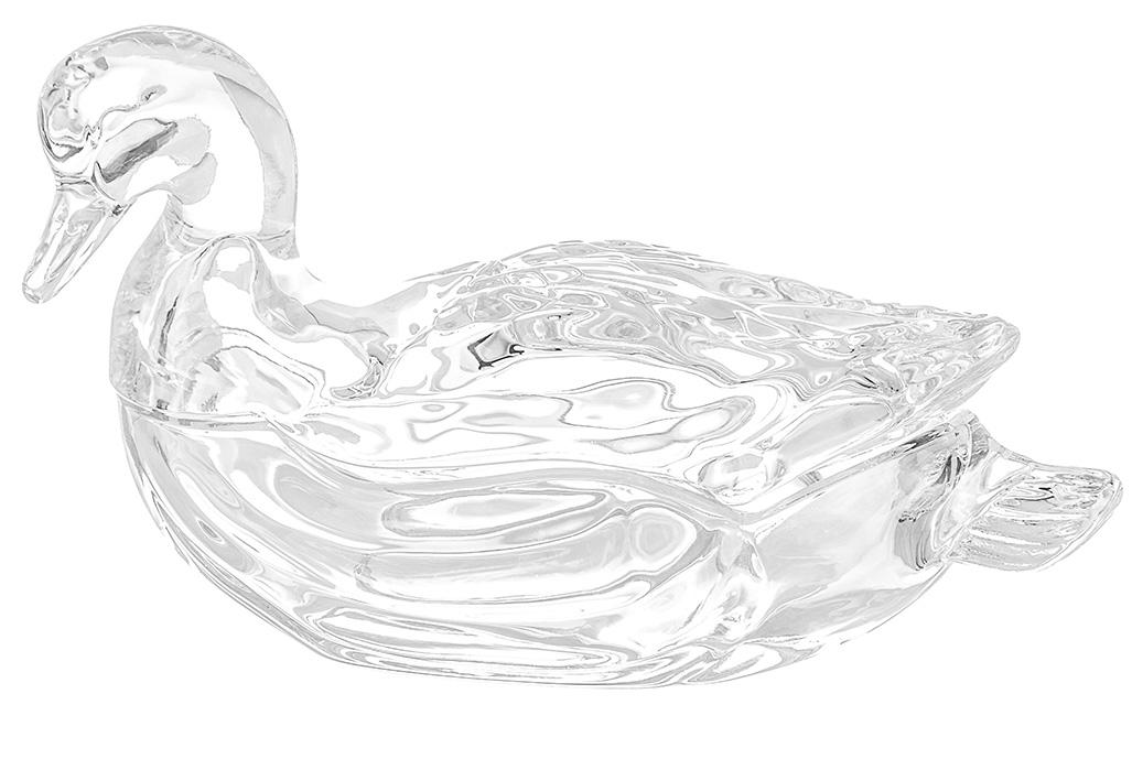 Блюдо-паштетница Elan Gallery Утка, 18 х 7 х 10 см890001Оригинальное блюдо-паштетница Elan Gallery Утка, выполненное из стекла в виде утки, придастлегкость и воздушность сервировке стола, а также создаст особую атмосферу праздника. Крышка удобно снимается и предохранит ваше блюдо от заветривания. Размер блюда-паштетницы (с учетом крышки): 18 х 7 х 10 см.