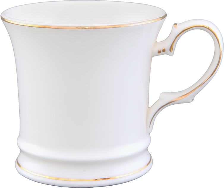 Кружка Elan Gallery Снежинка, цвет: белый, золотистый, 170 мл