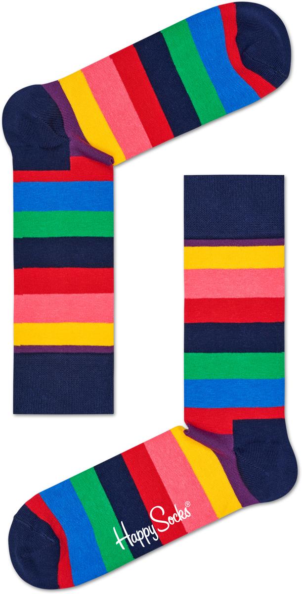 Носки Happy Socks Stripe, цвет: темно-синий, розовый, зеленый. STR01_6001. Размер 29 (41/46)STR01_6001Носки от Happy Socks, изготовленные из высококачественного материала, дополнены принтом. Эластичная резинка плотно облегает ногу, не сдавливая ее. Усиленная пятка и мысок обеспечивают надежность и долговечность.