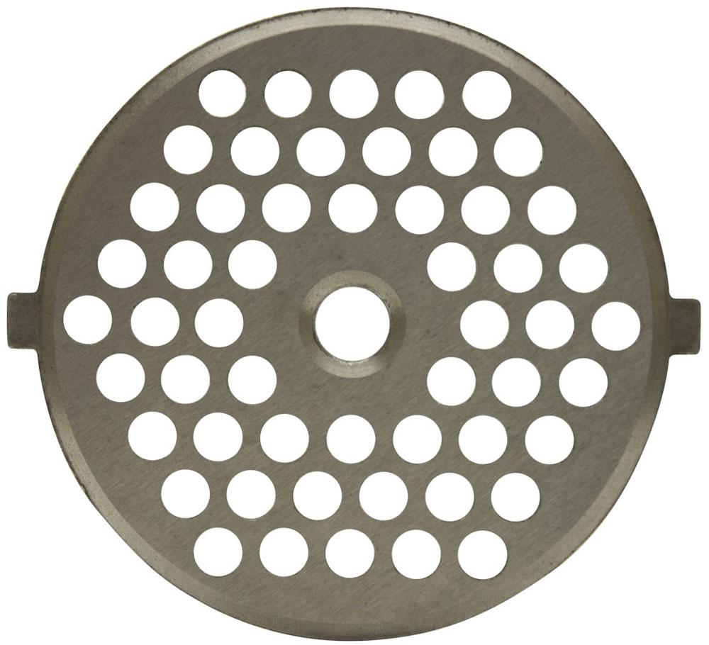 Euro Kitchen GR5-4 решетка для мясорубки/кухонного комбайнаGR5-4Решетка Euro Kitchen GR5-4 предназначена для работы с электрическими мясорубками и кухонными комбайнами. Она с легкостью заменит фирменную деталь, не уступив ей по качеству и сроку службы. Своевременная профилактика и замена режущих и вспомогательных элементов способствуют уменьшению нагрузки на узлы и другие механизмы, гарантируя долгую и качественную работу вашей мясорубки.