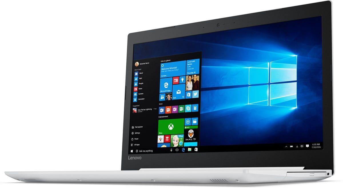 Lenovo IdeaPad 320-15IAP, White (80XR0024RK)80XR0024RKIdeaPad 320-15IAP 15.6 HD(1366x768) nonGLARE/Intel Pentium N4200 1.10GHz Quad/4GB/1TB/GMA HD/noDVD/WiFi/BT4.1/0.3MP/4in1/2cell/2.20kg/W10/1Y/WHITE
