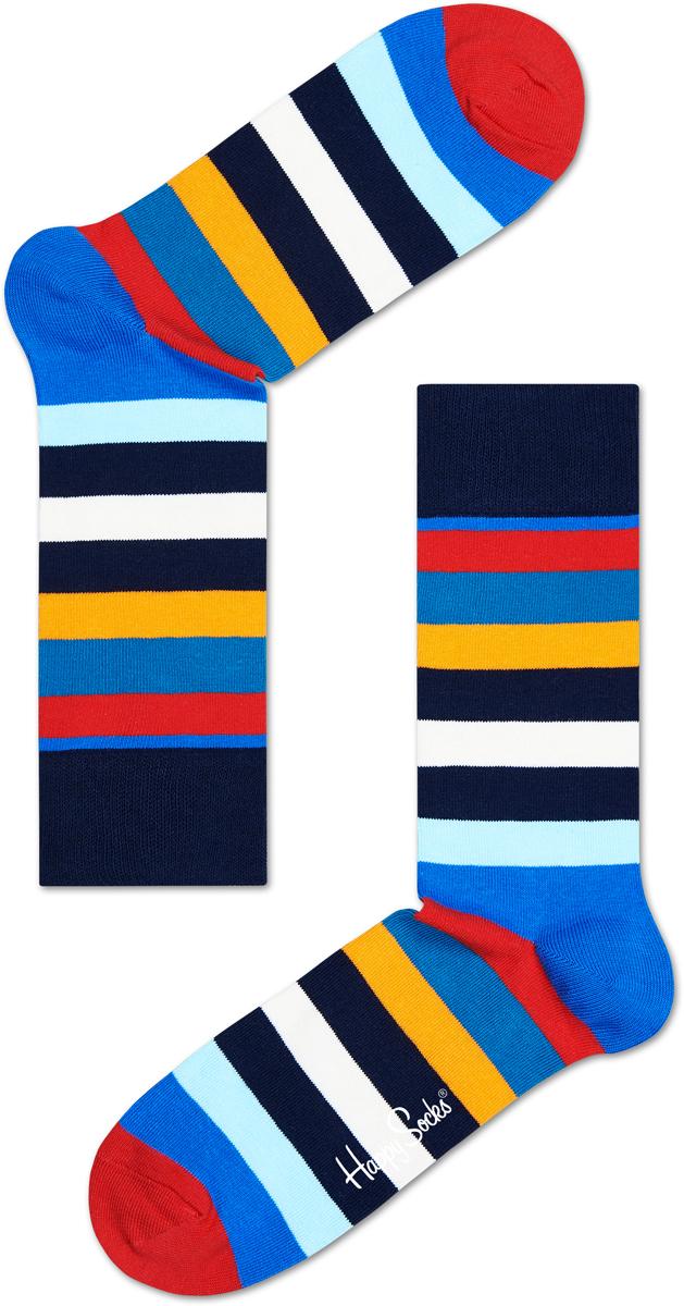 Носки Happy Socks Stripe, цвет: голубой, темно-синий. SA01_605. Размер 29 (41/46)SA01_605Носки от Happy Socks, изготовленные из высококачественного материала, дополнены принтом. Эластичная резинка плотно облегает ногу, не сдавливая ее. Усиленная пятка и мысок обеспечивают надежность и долговечность.