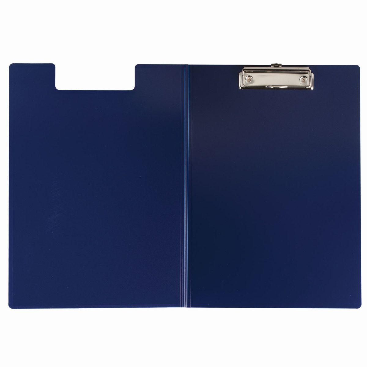Brauberg Папка с зажимами формат А4 цвет синий223488Папка-планшет Brauberg с верхним металлическим зажимом и крышкой изготовлена из прочного пластика. Используется для работы с бумагами в дороге, удобна для письма на весу. Формат А4.
