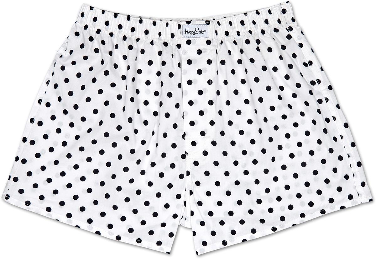 Трусы мужские Happy Socks Dot, цвет: белый. MUWWB-DOT_105. Размер S (44) dot mesh socks