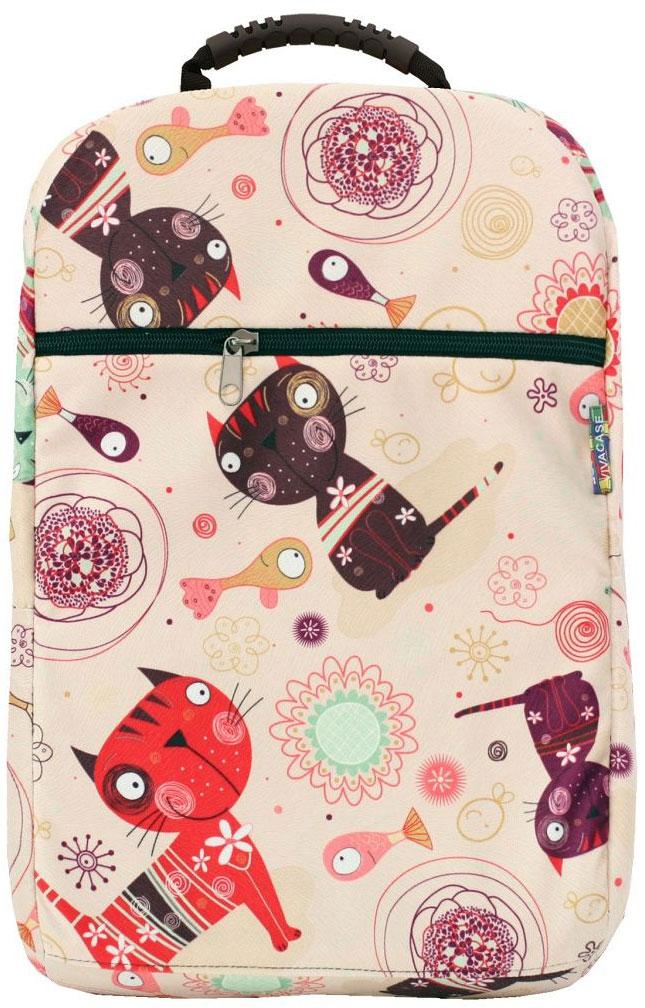 Vivacase Kitten, Beige рюкзак для ноутбука 15,6VCN-BCT15-beРюкзак для ноутбуков диагональю 15.6 дюймов стильный и эргономичный. Стильный дизайн неизбежно привлечет внимание и поможет ее владельцу выделиться из толпы.Рюкзак для ноутбука сшит из бархатистой мебельной ткани устойчивой к загрязнениям и истиранию. Не стоить бояться, что изделие быстро потеряет товарный вид. При изготовлении аксессуаров Vivacase используются только качественные материалы от проверенных поставщиков. Рюкзаку не страшны ни грязь, ни осадки благодаря специальной водо - и грязеотталкивающей пропитке. Его достаточно протереть влажной тряпочкой, чтобы избавиться от пятен.Основа рюкзака - специальный пористый противоударный материал двойного сложения, который отлично защищает ноутбук от тряски в дороге и механических повреждений.