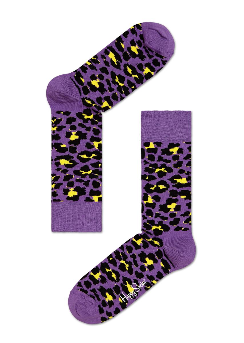 Носки Happy Socks Animal, цвет: фиолетовый. LE01_53. Размер 29 (41/46)LE01_53Носки от Happy Socks, изготовленные из высококачественного материала, дополнены принтом. Эластичная резинка плотно облегает ногу, не сдавливая ее. Усиленная пятка и мысок обеспечивают надежность и долговечность.