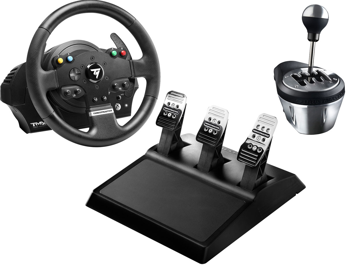 Thrustmaster THR83 TMX FFB EU PRO руль для PS3/PS4/PC/XboxOne + коробка передач TH8A Shifter Add-On