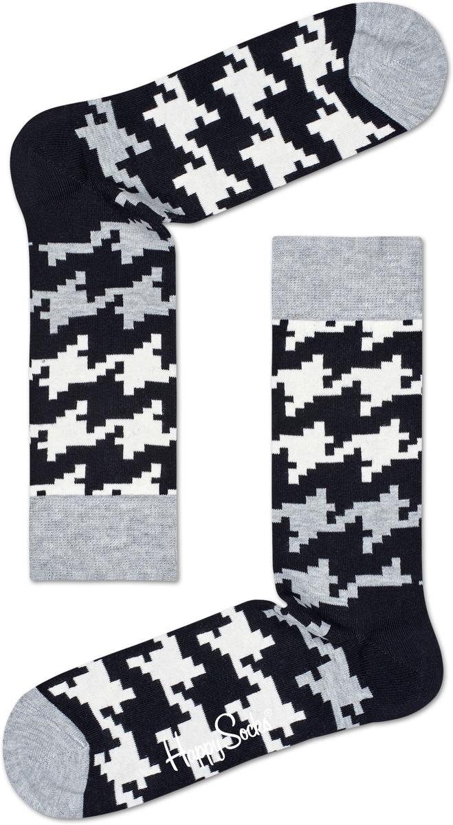 Носки Happy Socks Dogtooth, цвет: черный. DGT01_9000. Размер 29 (41/46)DGT01_9000Носки от Happy Socks, изготовленные из высококачественного материала, дополнены принтом. Эластичная резинка плотно облегает ногу, не сдавливая ее. Усиленная пятка и мысок обеспечивают надежность и долговечность.