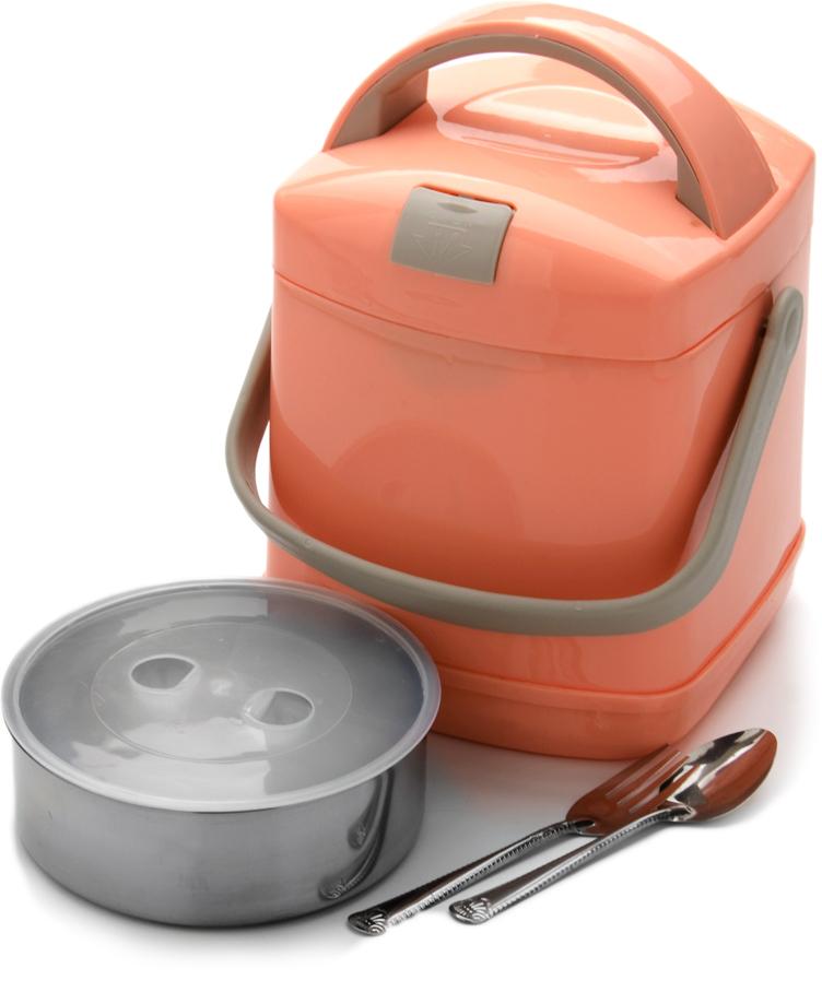 """Пищевой термос """"Mayer & Boch"""" станет прекрасным дополнением к набору ваших кухонных принадлежностей. Термос предназначен для длительного хранения горячих блюд, сохраняя нужную температуру до пяти часов. Выполнен из цветного пищевого пластика и высококачественной нержавеющей стали, не вступающей в реакцию с продуктами и не искажающей вкус приготовленных блюд. Данный термос обладает не только прекрасными термоизоляционными качествами, но и непревзойденной надежностью. Благодаря эргономичной форме и удобным ручкам его удобно транспортировать. Такой термос идеально подойдет для обедов на работе или при отдыхе на природе. В комплекте: термос, 1 контейнер с крышкой, 1 вилка, 1 ложка. Подходит для мытья в посудомоечной машине."""