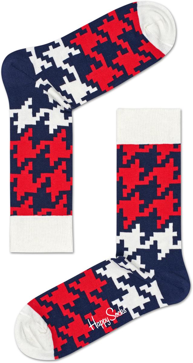 Носки Happy Socks Dogtooth, цвет: мультиколор. DGT01_6003. Размер 25 (36/40)DGT01_6003