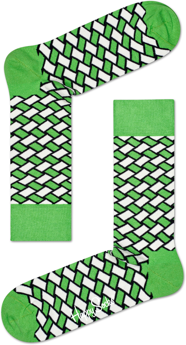 Носки Happy Socks Basket, цвет: светло-зеленый. BSK01_7000. Размер 29 (41/46)BSK01_7000Носки от Happy Socks, изготовленные из высококачественного материала, дополнены принтом. Эластичная резинка плотно облегает ногу, не сдавливая ее. Усиленная пятка и мысок обеспечивают надежность и долговечность.