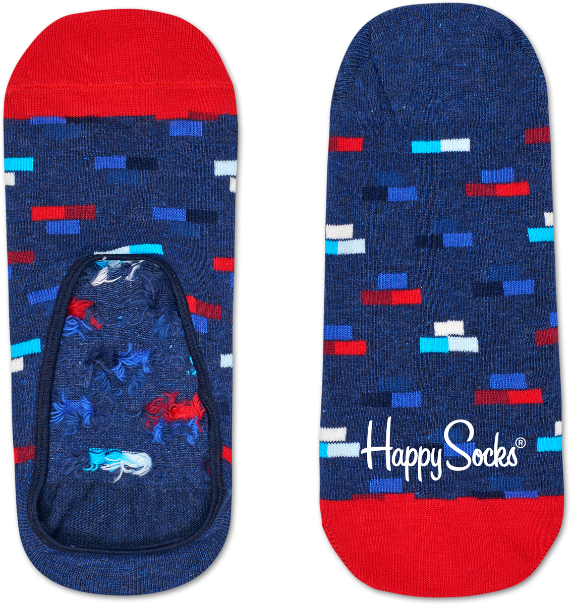 Носки Happy Socks Bricks Liner, цвет: синий, красный. BRI06_6000. Размер 29 (41/46)BRI06_6000Укороченные носки от Happy Socks, изготовленные из высококачественного материала, дополнены принтом. Усиленная пятка и мысок обеспечивают надежность и долговечность.
