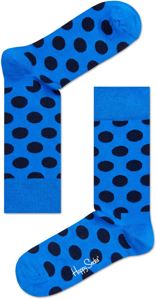 Носки Happy Socks Big Dot, цвет: голубой. BD01_606. Размер 29 (41/46)BD01_606Носки Happy Socks Argyle, изготовленные из высококачественного комбинированного материала, очень мягкие и приятные на ощупь, позволяют коже дышать. Широкая эластичная резинка плотно облегает ногу, не сдавливая ее, обеспечивая комфорт и удобство. Модель оформлена оригинальным принтом.Удобные и комфортные носки великолепно подойдут к любой вашей обуви
