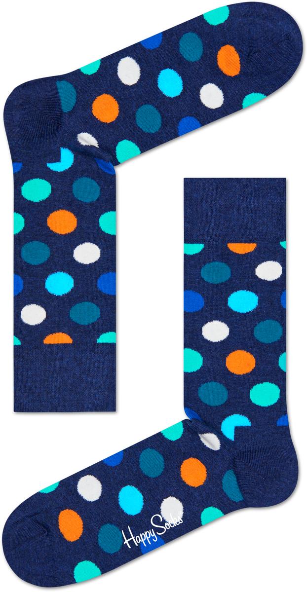 Носки Happy Socks Big Dot, цвет: синий. BD01_605. Размер 29 (41/46)BD01_605Носки Happy Socks Argyle, изготовленные из высококачественного комбинированного материала, очень мягкие и приятные на ощупь, позволяют коже дышать. Широкая эластичная резинка плотно облегает ногу, не сдавливая ее, обеспечивая комфорт и удобство. Модель оформлена оригинальным принтом.Удобные и комфортные носки великолепно подойдут к любой вашей обуви