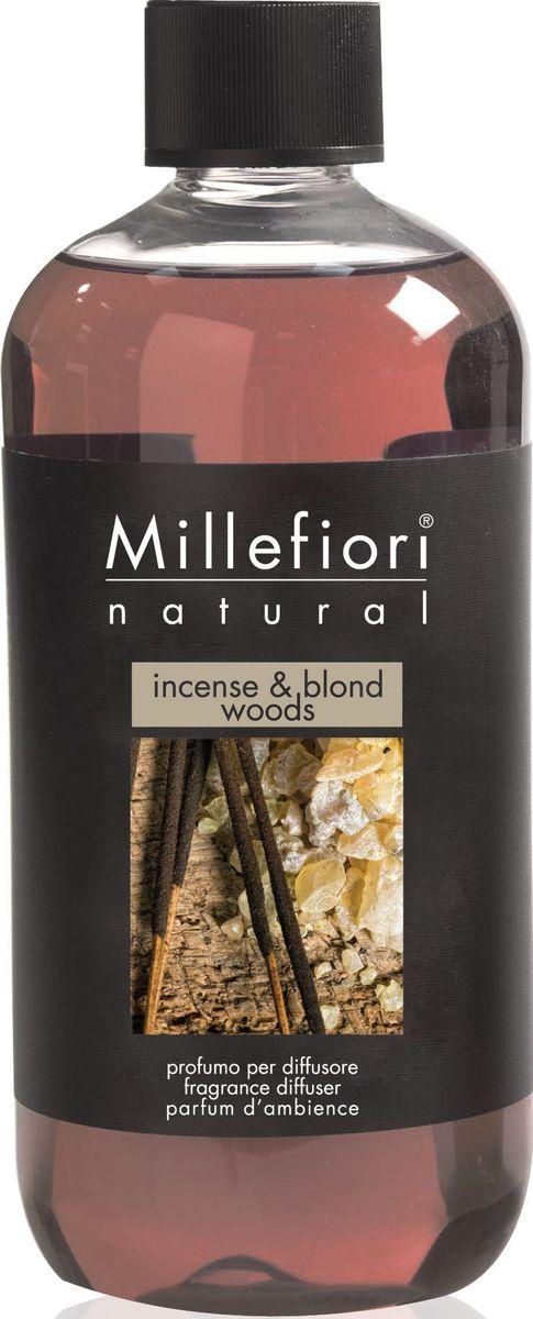 Сменный флакон для диффузора Millefiori Milano Благовония и белое дерево / Incense & Blond Woods, 250 мл сменный флакон для диффузора millefiori milano ягодный восторг berry delight 250 мл