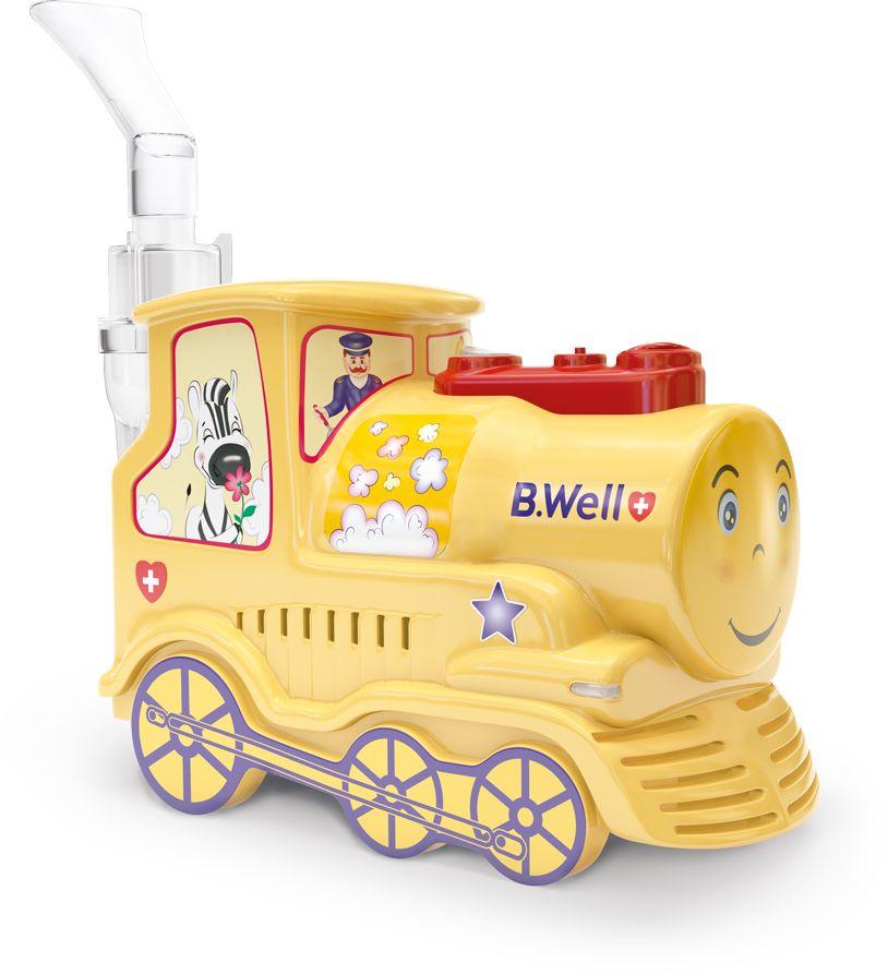 B.Well Swiss Ингалятор медицинский PRO-115 Паровозик, компрессорный небулайзер для грудничков в ногинске