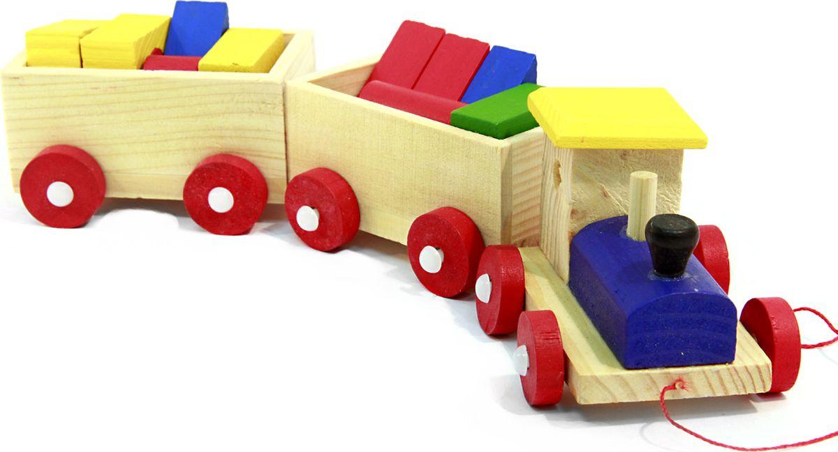 Фабрика Фантазий Развивающая игрушка Паровозик с фигурами Чух-Чух железные дороги s s toys паровозик вездеход