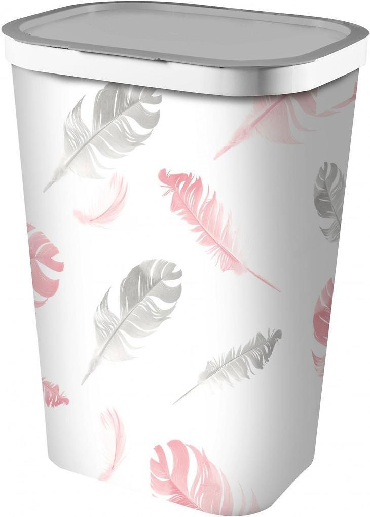 Корзина для белья Curver Feathers, цвет: серый, 60 л