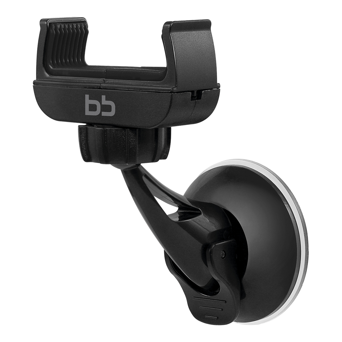 BB 002-001, Black автомобильный держатель для смартфона 3,5-610250Поворот мобильного устройства на 360 градусов, для телефона, 3,5-6', стекло/панель, присоска, раздвижной кронштейн, поворотный механизм, пластик, силикон, металл, 137,5г
