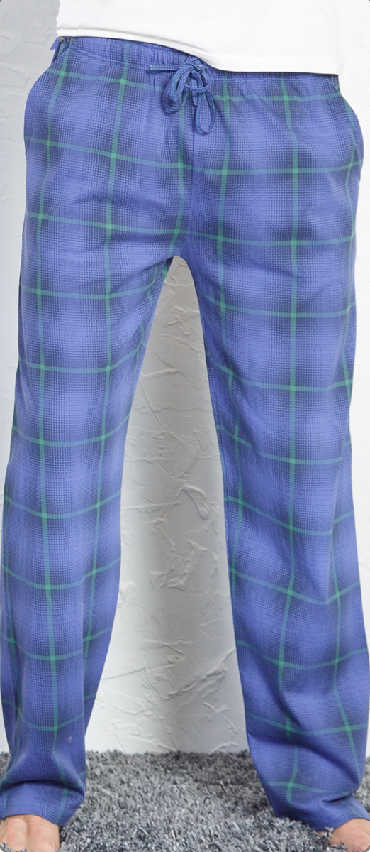 Брюки для дома мужские Vienettas Secret, цвет: сапфировый. 710167 3284. Размер L (48)710167 3284Домашние брюки от Vienettas Secret выполнены из натурального хлопка. Модель свободного кроя с эластичной резинкой на талии и регулируемым шнурком.